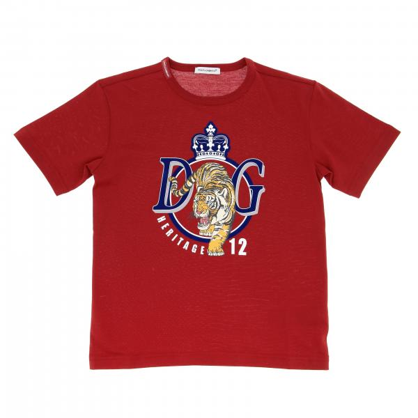 Dolce & Gabbana short-sleeved T-shirt with crest logo