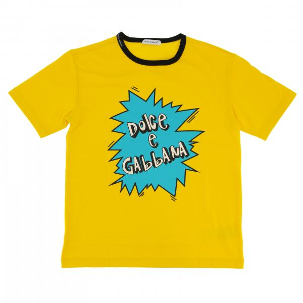 Dolce & Gabbana short-sleeved T-shirt with cartoon logo
