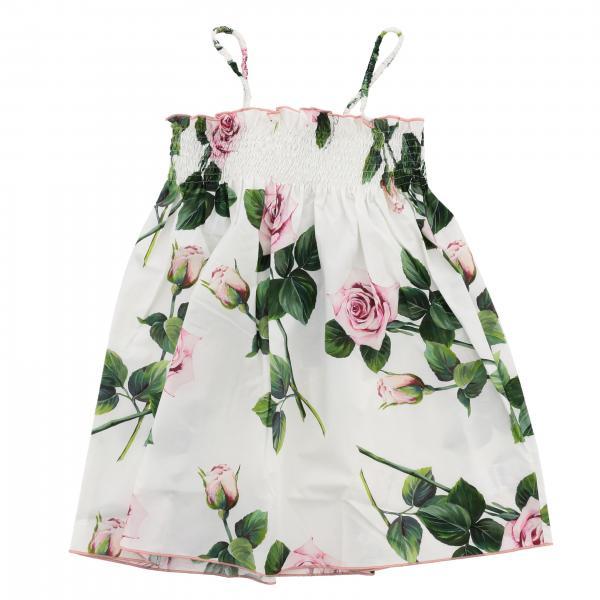Платье без рукавов с принтом Детское Dolce & Gabbana