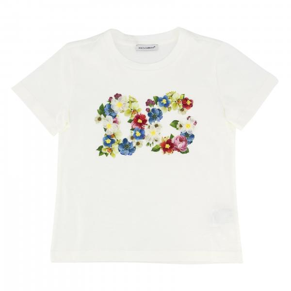 Dolce & Gabbana T-shirt with floral DG logo