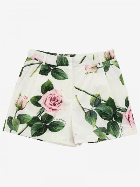 Dolce & Gabbana shorts in poplin with rose print