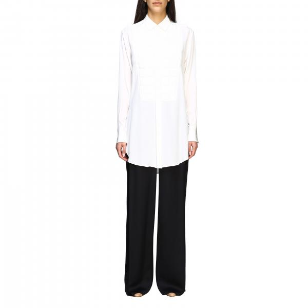 Bottega Veneta tuxedo shirt with quilted plastron