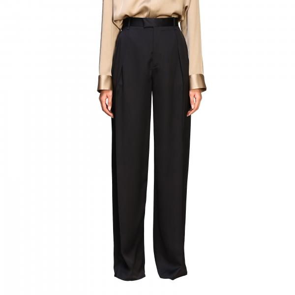 Bottega Veneta trousers with high waist in silk