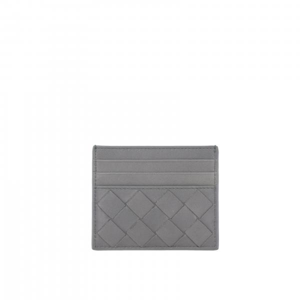 Porta carte di credito Bottega veneta in pelle intrecciata