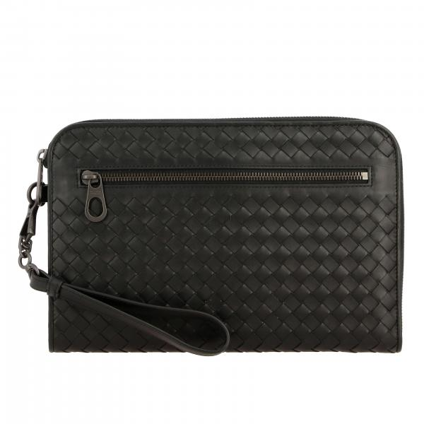 Clutch Bottega Veneta in pelle intrecciata