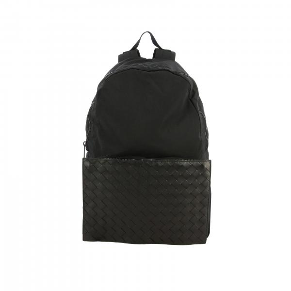 Рюкзак из нейлона и плетеной кожи Мужское Bottega Veneta