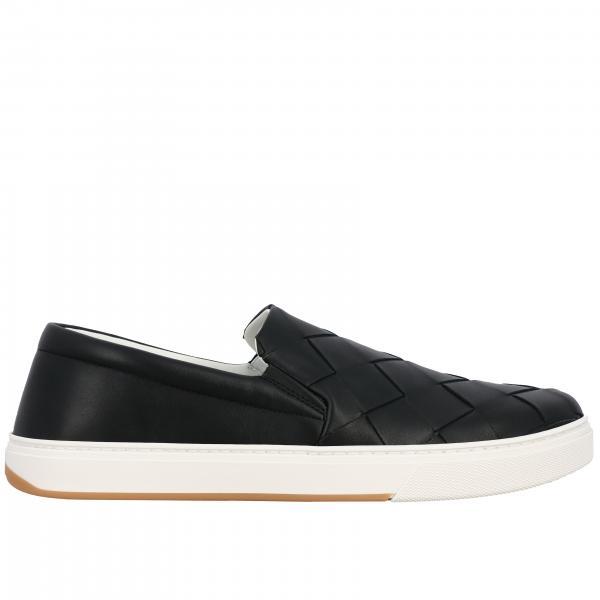 Sneakers slip on Bottega Veneta in pelle con maxi intreccio