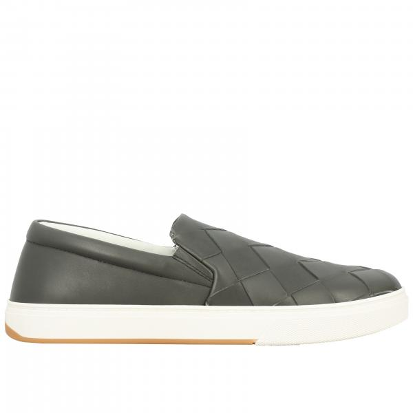 Bottega Veneta 编织真皮一脚蹬运动鞋