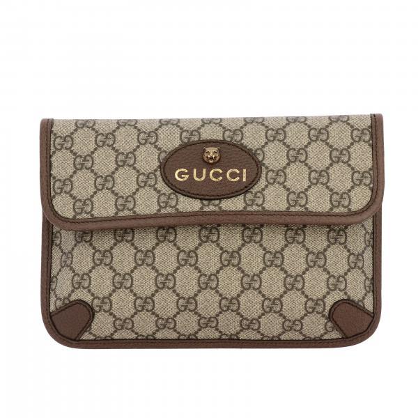 Поясная сумка Neo vintage из кожи GG Supreme Gucci с Тигром