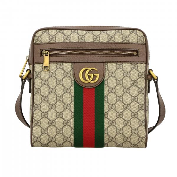 Gucci Ophidia GG Supreme leather bag with Web band