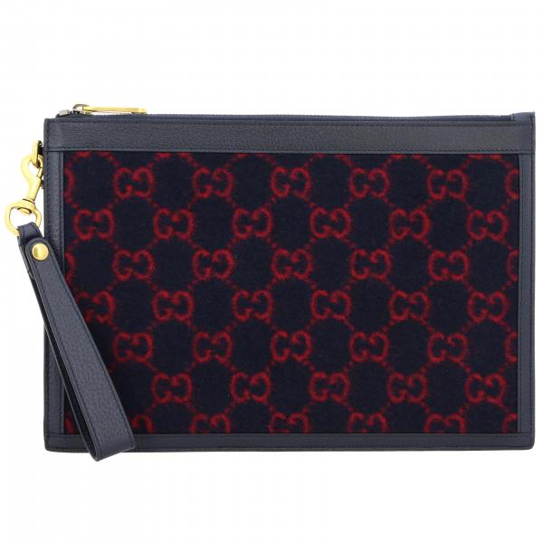 Gucci GG Supreme wool clutch bag