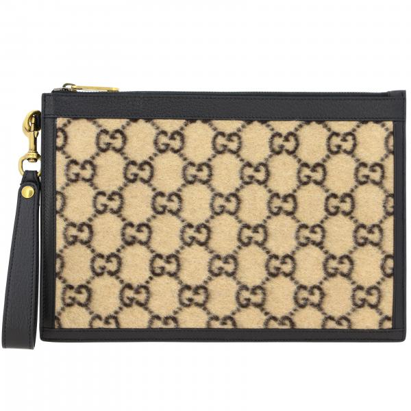 Gucci GG Supreme Clutch aus Wolle