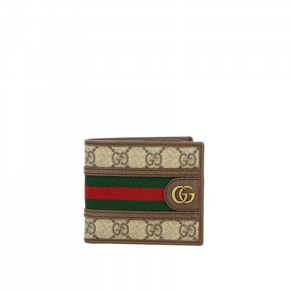 Portafoglio Ophidia Gucci in pelle GG Supreme con monogramma