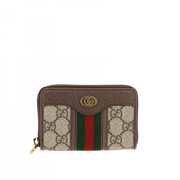 Gucci Ophidia wallet in GG Supreme leather with monogram