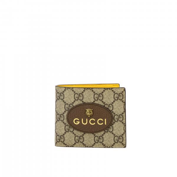 Gucci Neo vintage GG Supreme和老虎logo印花真皮钱包