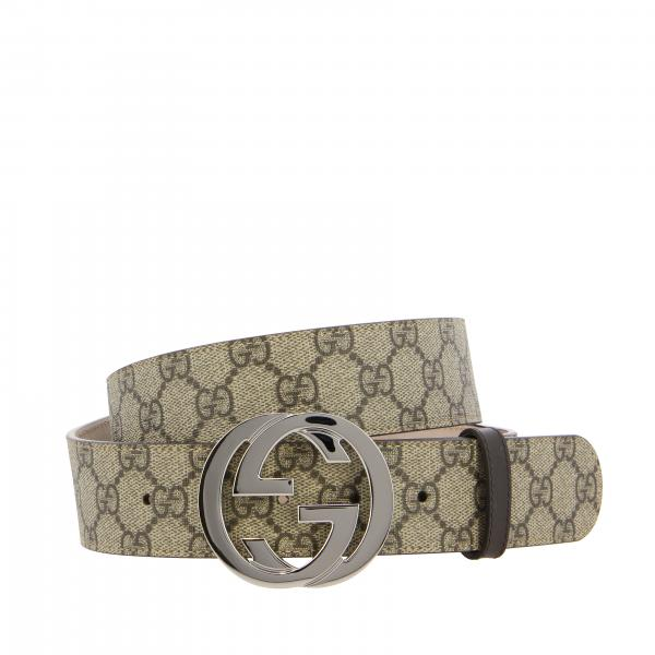 Gucci belt with FF buckle in GG Supreme leather
