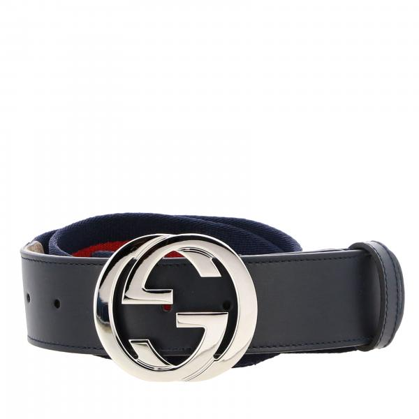 Gucci belt in leather and Web canvas with GG buckle