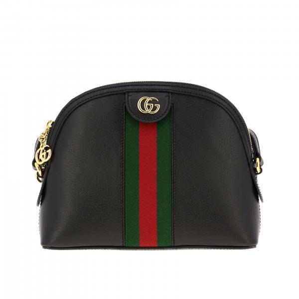 Наплечная сумка Ophidia Gucci из кожи с полоской Web