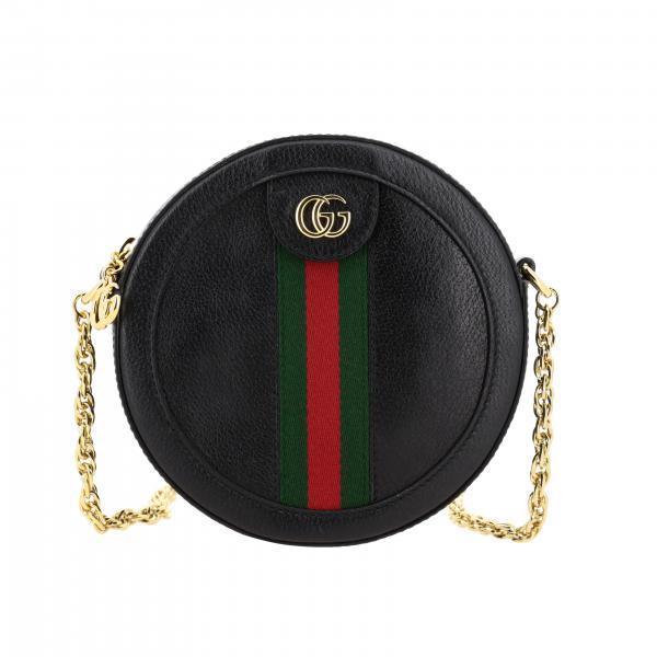 Gucci Ophidia 真皮圆领斜挎包