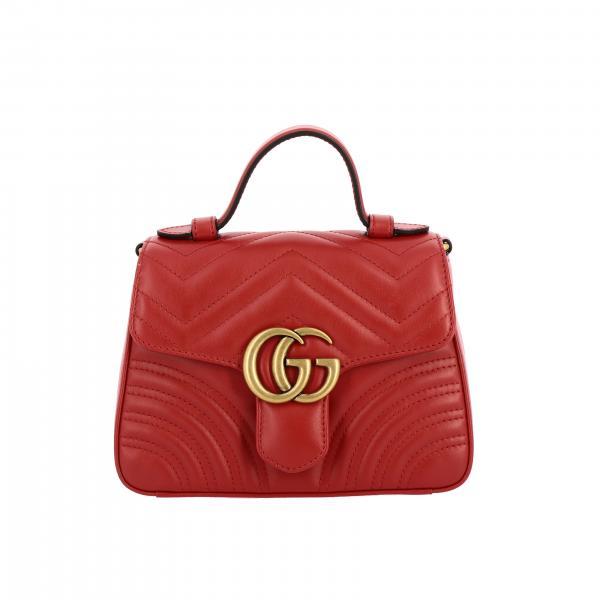 Сумка GG Marmont Gucci из кожи chevron
