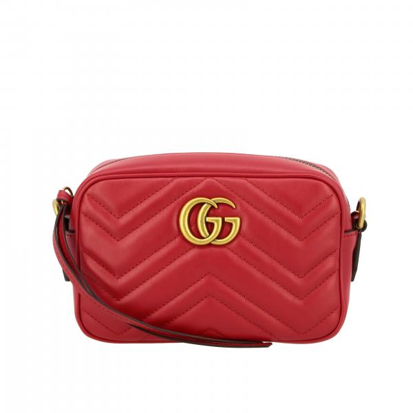 Gucci GG Marmont camera bag in genuine chevron leather