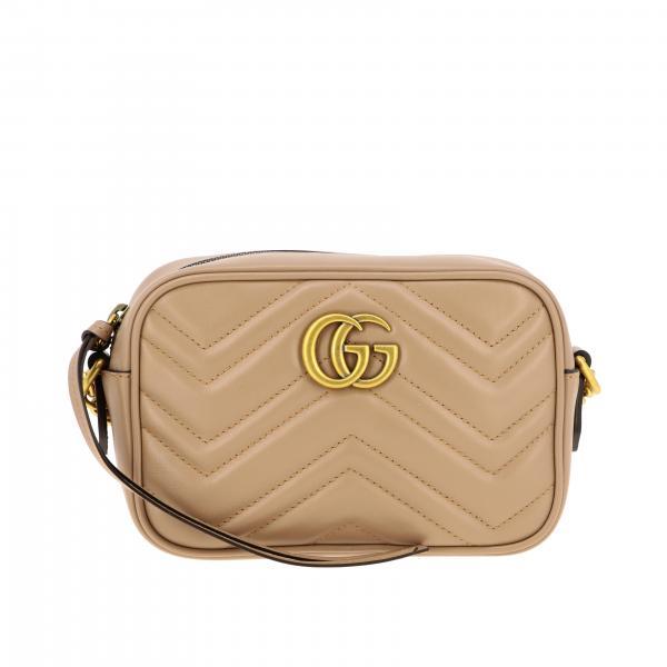 Borsa GG Marmont camera bag Gucci in vera pelle chevron