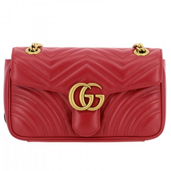 Marmont Gucci Umhängetasche aus Chevron Leder mit Monogramm