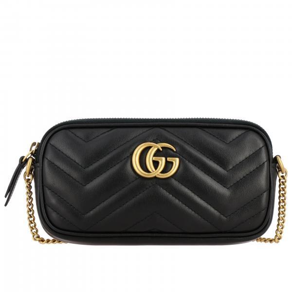 Gucci GG Marmont V型纹真皮手袋