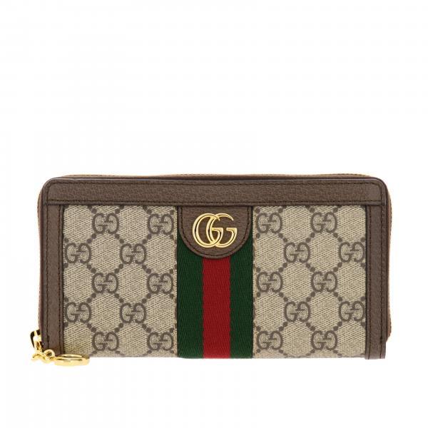 Portafoglio Gucci in pelle GG Supreme con monogramma