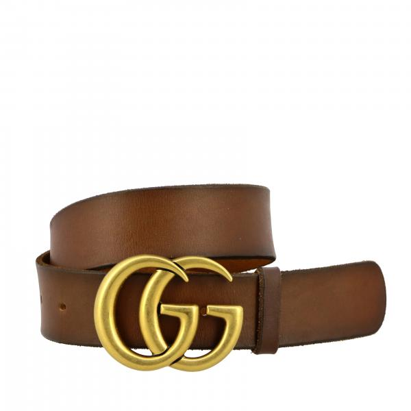 Cintura Gucci in pelle sfumata con fibbia GG