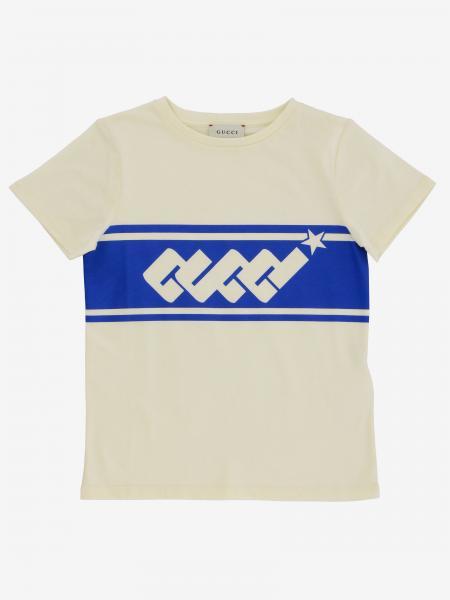 Gucci T-Shirt mit Logo Print