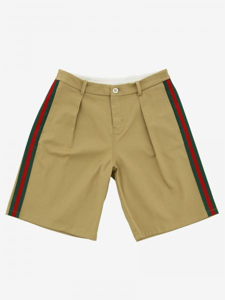 Short large Gucci avec bandes Web