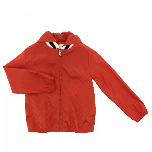 Gucci nylon jacket with knitted collar