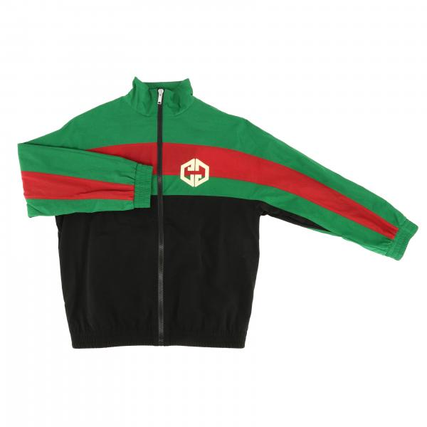 Gucci sweatshirt with zip and Web bands