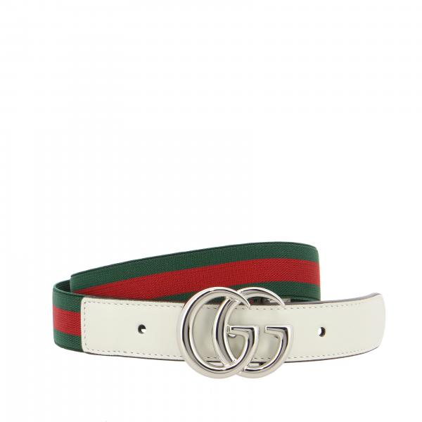 Gucci belt with FF buckle and elastic web band