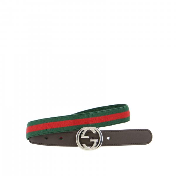 Gucci belt with GG buckle and elastic web band