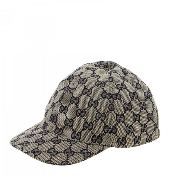 Gucci hat with GG Supreme print and web band