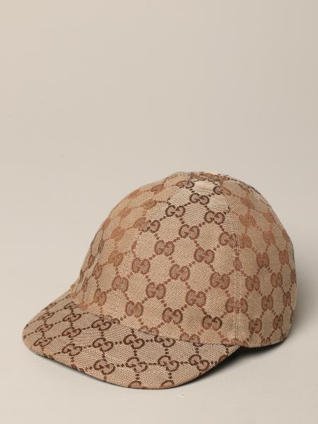 Gucci Web条带GG Supreme印花帽子