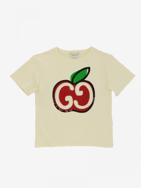 Gucci T-Shirt mit GG und Apple Logo