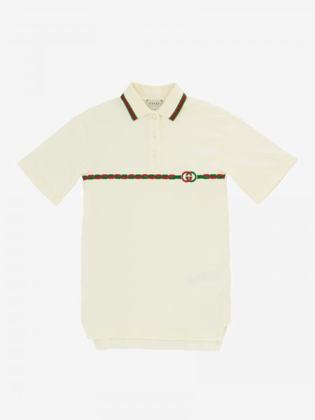 Gucci polo dress with bicolor GG logo