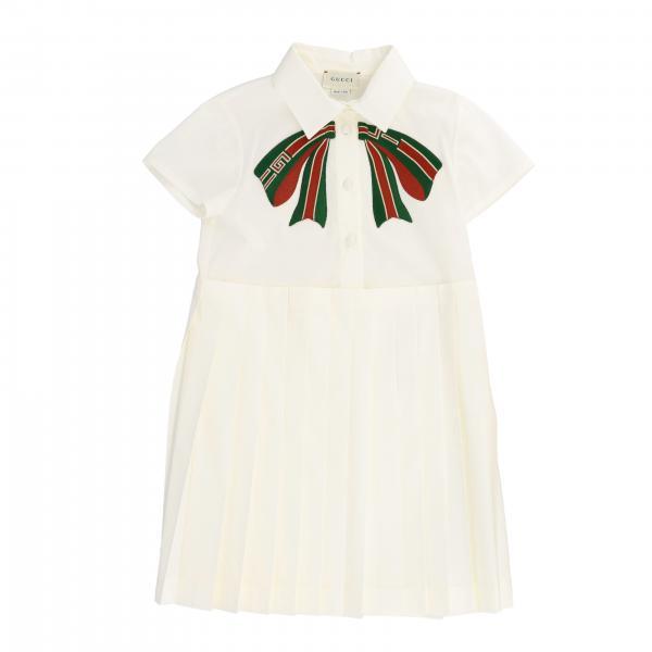 Gucci poplin dress with Web bow