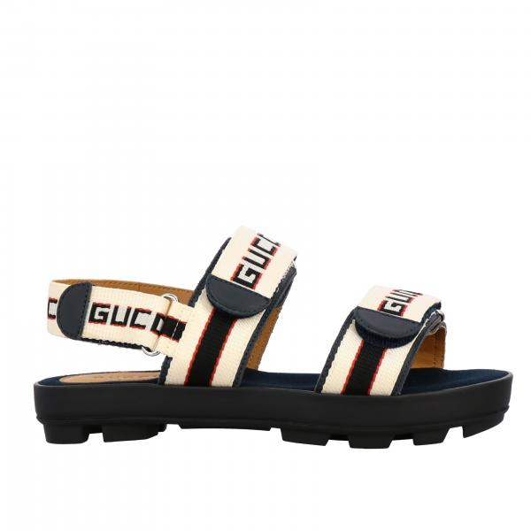 Gucci Sam sandal with Gucci Sport strap buckles