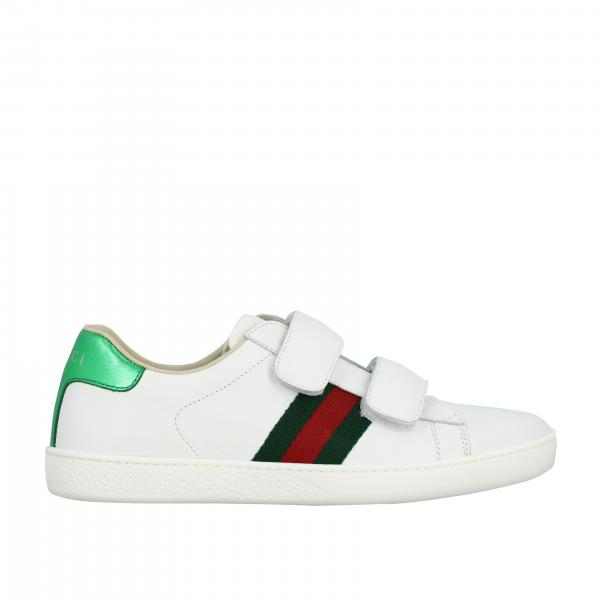 Gucci New Ace sneakers in leather with Web bands