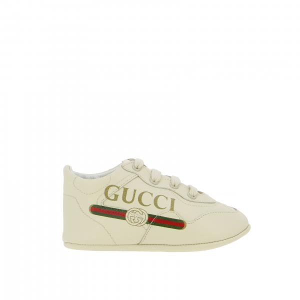 Gucci baby rython sneakers in leather with printed logo