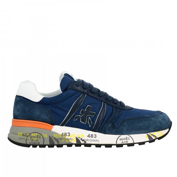 Lander Premiata sneakers in suede and nylon with logo