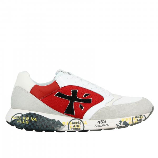 Zac zac Premiata sneakers in suede and mesh with logo