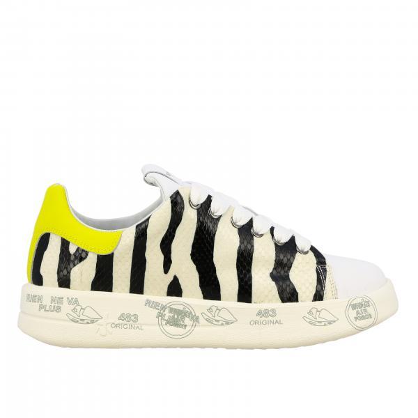 Premiata Belle 斑马纹皮和光滑皮运动鞋
