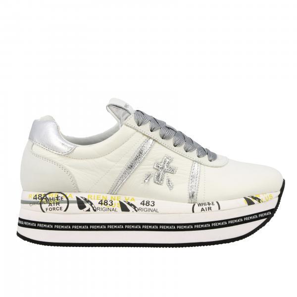 Sneakers Beth Premiata in pelle con logo laminato
