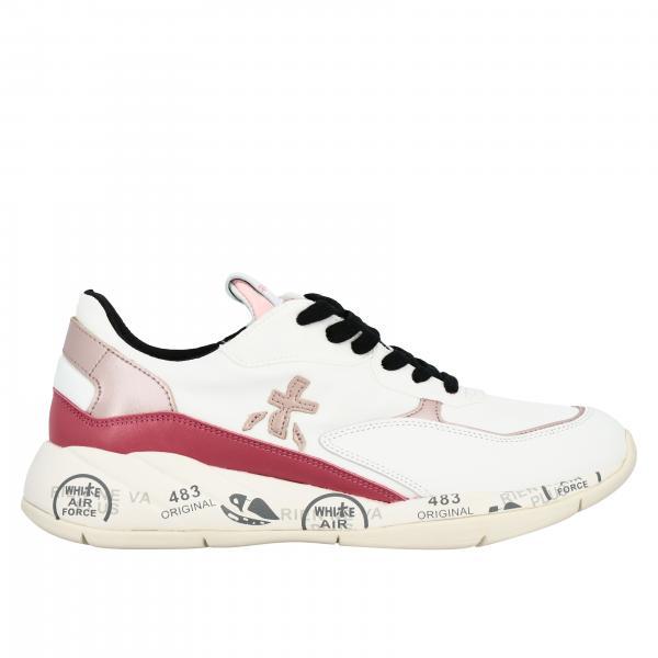 Premiata Scarlett logo装饰网眼真皮运动鞋