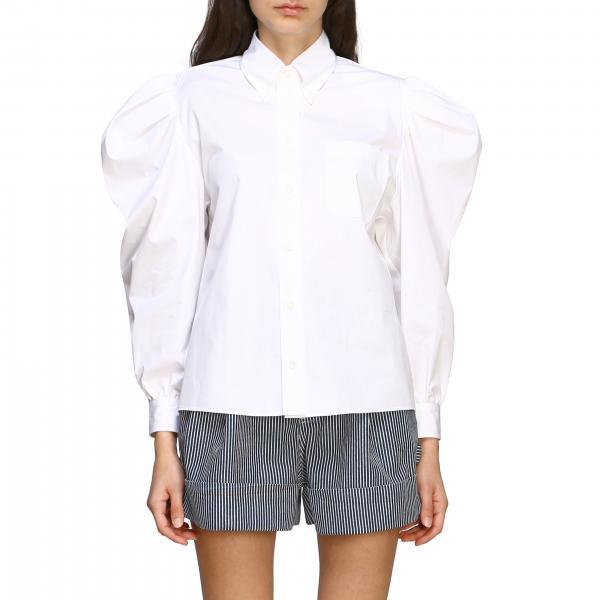 Camicia Miu Miu in popeline con maniche ampie